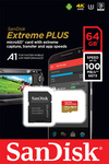 Sandisk Extreme Plus microSDXC 64GB U3 V30 A1 with Adapter