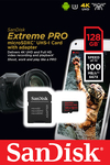 Sandisk Extreme Pro microSDXC 128GB U3 V30 A1 with Adapter