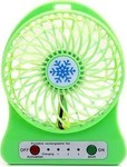USB Fan with Rechargeable Battery Green