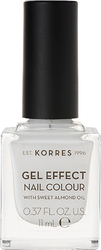 Korres Gel Effect Nail Colour 1 Blanc White