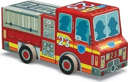 Fire Truck Vehicle Puzzle 48pcs (4100-1) Crocodile Creek