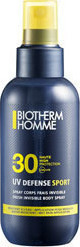 Biotherm Homme UV Defense Sport Fresh Invisible Body Spray SPF30 125ml