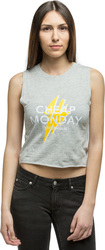 Cheap Monday Shield Cut Lightning Logo Tank (0402964)