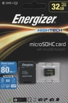 Energizer HighTech microSDHC 32GB U1 with Adapter