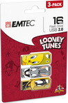 Emtec M750 Looney Toons 16GB USB 2.0 (3 Pack)