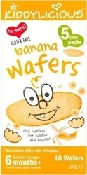 Kiddylicious Banana Wafers 20gr