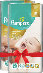 Pampers Premium Care No 2 (3-6Kg) 2*50τμχ