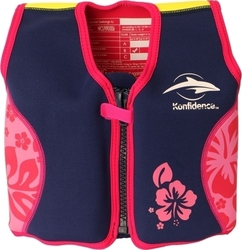 Konfidence Float Jacket Navy/Pink Hibiscus