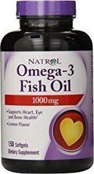 Natrol Omega-3 Fish Oil 150 μαλακές κάψουλες Λεμόνι