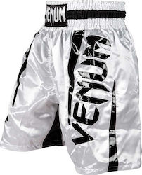 ΣΟΡΤΣΑΚΙ ΠΥΓΜΑΧΙΑΣ VENUM ELITE BOXING SHORTS - WHITE/BLACK