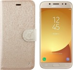 Volte-Tel Leather Gold-TPU Book (Galaxy J5 2017)