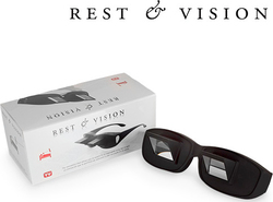 Horizontal Reading on Bed Mirror Glasses