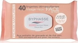 Byphasse Make Up Remover Wipes Εκχύλισμα Ροδιού & Πράσινο Τσάϊ 40τμχ
