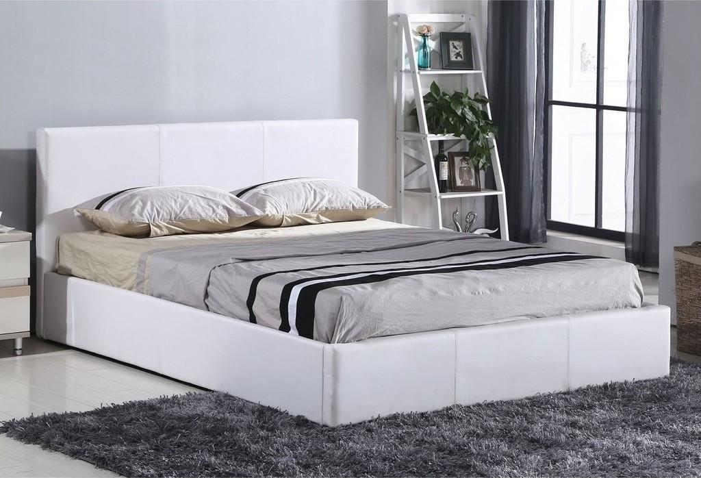 Wilton II Κρεβάτι Διπλό Δερματίνη με Αποθηκευτικό Χώρο 160x200cm
