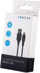 Forever Regular USB 2.0 to micro USB Cable Μαύρο 3m (5900495452702)