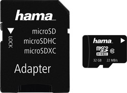 HAMA microSDHC 32GB Class 10 with Adapter