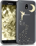 KW Back Cover Σιλικόνης Διαφανές Glitter Fairy Gold (Galaxy J5 2017)