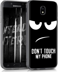KW Back Cover Σιλικόνης Don't Touch My Phone Μαύρο (Galaxy J5 2017)