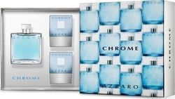 Azzaro Chrome Eau de Toilette 100ml & After Shave 75ml & Hair & Body Wash 75ml