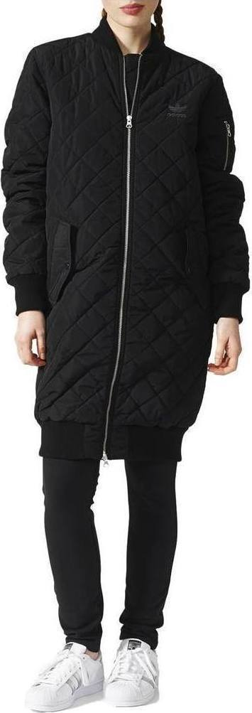 c677cbd46 Adidas Long Quilted Bomber Jacket BS5064