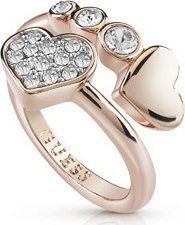 GUESS Rose Gold Heart Ring UBR84054