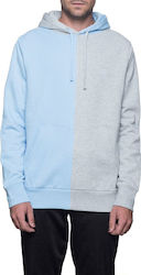 HUF Henry Pullover Hoody - Heather Grey/Babe Blue - fl00013