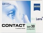 Zeiss Contanct Day 30 Compatic Bio Lens Μυωπίας 6τμχ