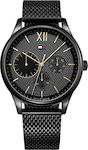 Tommy Hilfiger Damon Black Mesh Stainless Steel