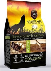 Ambrosia Senior Light Salmon & Fresh Turkey 2kg