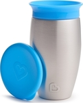 Munchkin Miracle Stainless Steel 360° Sippy Cup Blue, 296ml