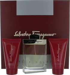Salvatore Ferragamo Pour Homme Eau de Toilette 100ml, Shower Gel 75ml & After Shave Balm 75ml