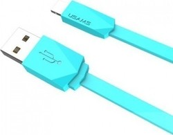 Usams Flat USB 2.0 to micro USB Cable Μπλε 1m (US-SJ084)
