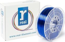 Real Filament PETG 1.75mm Translucent Blue 1kg