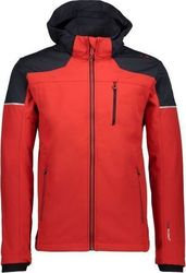 CMP Softshell Zip Hood Jacket Red 3A18577-C580