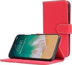 Snugg Leather Flip Wallet Κόκκινο (iPhone X/Xs)
