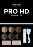 Freedom London Pro HD Brow Palette Fair Dark