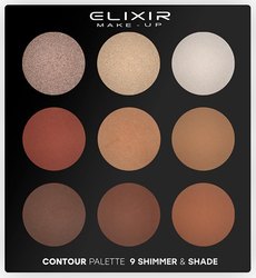 Elixir Make-Up Contour Palette 9 Shimmer & Shade 29gr