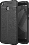 OEM Carbon Leather Μαύρο (Xiaomi Redmi 4x)