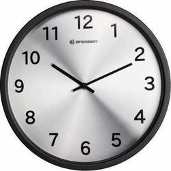 Bresser Mytime Silver Edition Wall Clock Black