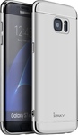 IPAKY Θήκη Samsung Galaxy S7 Edge ΙPAKY 3-In-1 Plating Hard PC Back Cover-silver