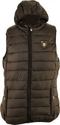 GEOGRAPHICAL NORWAY JACKET VEST VENEZIA WP613F ΜΑΥΡΟ