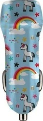 Benjamins Car Charger 3.1A Dual USB Unicorn