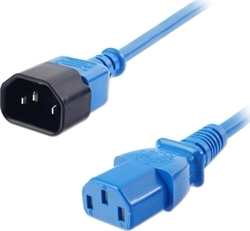 LINDY IEC 1m Extension Cable IEC C14 to IEC C13 Power Lead - Blue (30471)