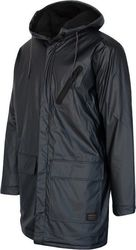 Quiksilver Mole Creek - Water-Repellent Longline Raincoat Tarmac
