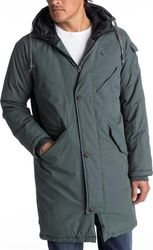 Quiksilver Kayapa Water Repellent Longline Parka Urban Grey