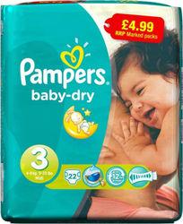 Προσθήκη στα αγαπημένα menu Pampers Baby Dry No 3 (4-9Kg) 22τμχ 19efeb65245