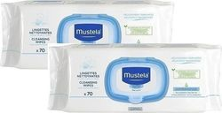 Mustela Promo Dermo-Soothing Wipes Μαντηλάκια 2x70τμχ