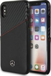 Mercedes Back Cover Δερμάτινο Dynamic Black (iPhone X/Xs)