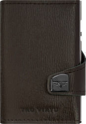 Tru Virtu Click & Slide Wallet Needle Dark Tobacco