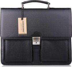 de95801b6f Δερμάτινη Τσάντα Jack Chris Mens New PU Leather Briefcase Messenger Bag  Laptop Bag